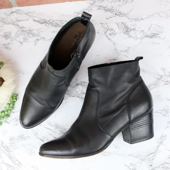 Crown Vintage Black Ankle Booties 8